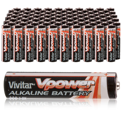 Vivitar Alkaline AAA Batteries - 100 Pack