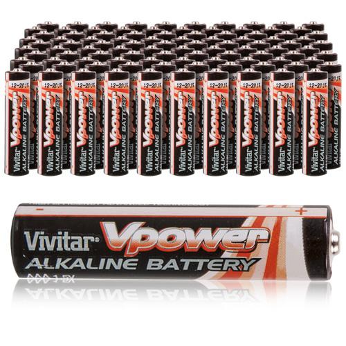 'Vivitar Alkaline AAA Batteries - 100 Pack'