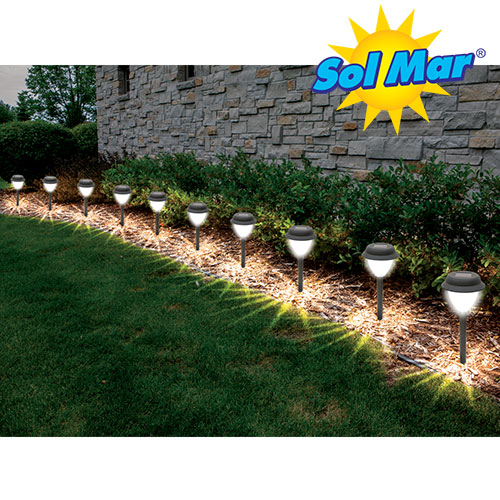 10-Pack Crown Solar Lights