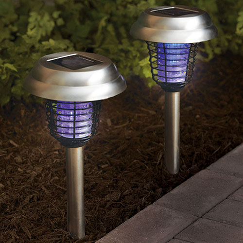 '4-Pack Solar Lights with Bug Zapper'