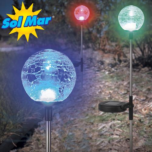 '3 Pack Solar Garden Balls'
