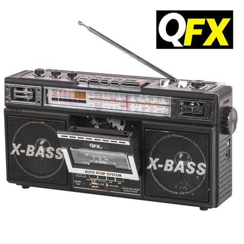 'QFX Cassette Converter Boombox'