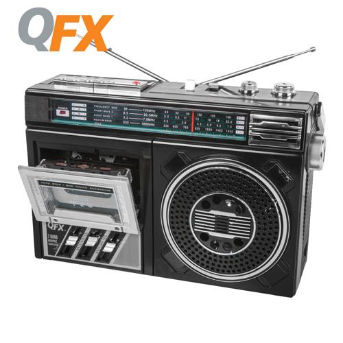 'QFX Portable Radio Cassette Recorder'