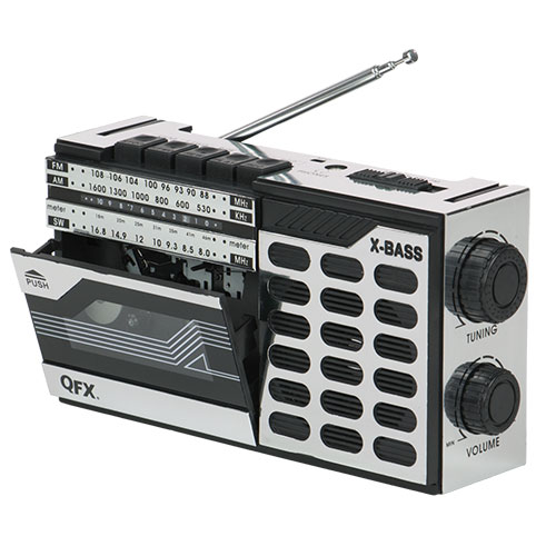 'QFX Retro Radio/Cassette Receiver Player'