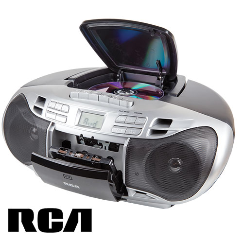 'RCA CD Boombox with Cassette Player'