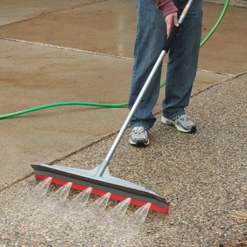 High Pressure Broom : Squeegee water broom pool deck porch hose clean spray