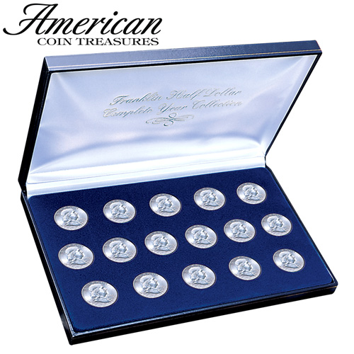 '1948-63 Franklin Silver Dollar Set'