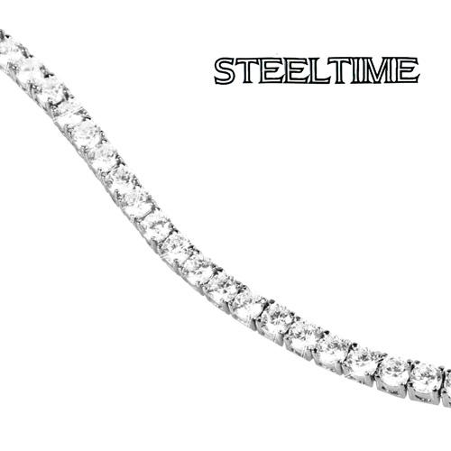 '10 Carat Cubic Zirconia Bracelet - Silver'