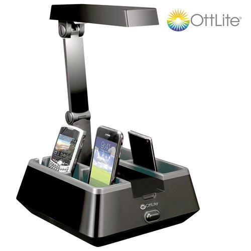 OttLite Charging Valet Desk Lamp
