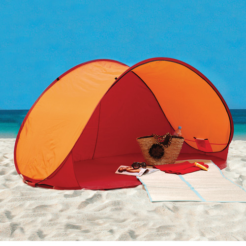 'Pop-Up Beach Cabana - Red'