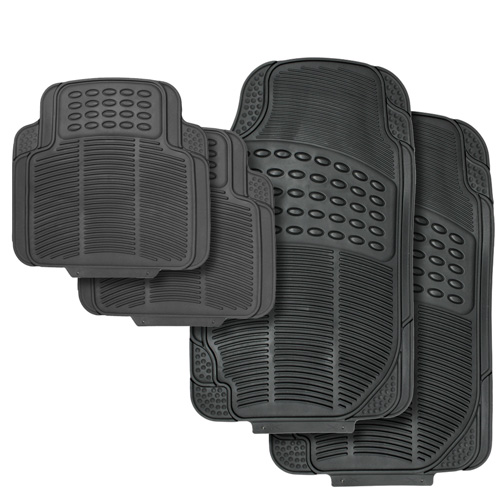 '4pc Black Vehicle Floor Mats'