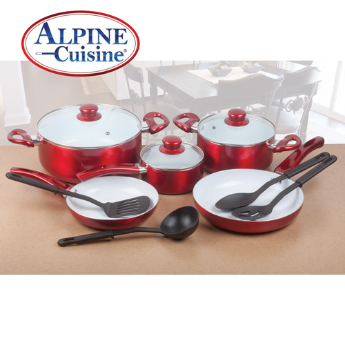 Alpine Cuisine 12-Piece Ceramic Cookware Set