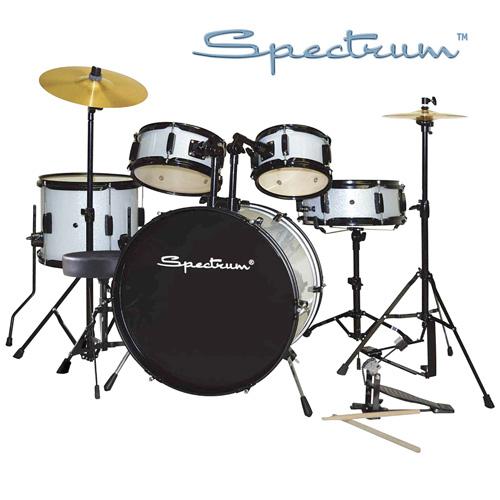 'Spectrum 5-Piece Drum Set - Silver'