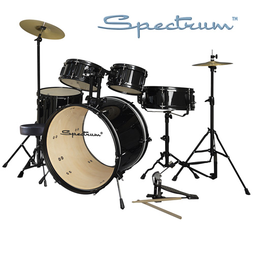 Spectrum 5-Piece Drum Set - Black