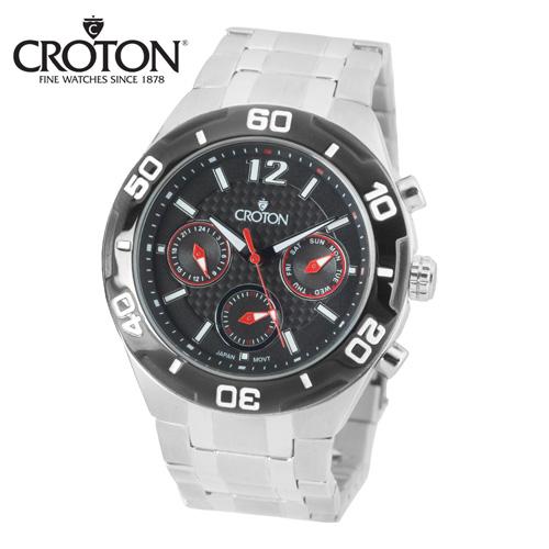 'Croton Chronograph Watch - Black'