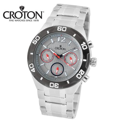 'Croton Chronograph Watch - Silver'