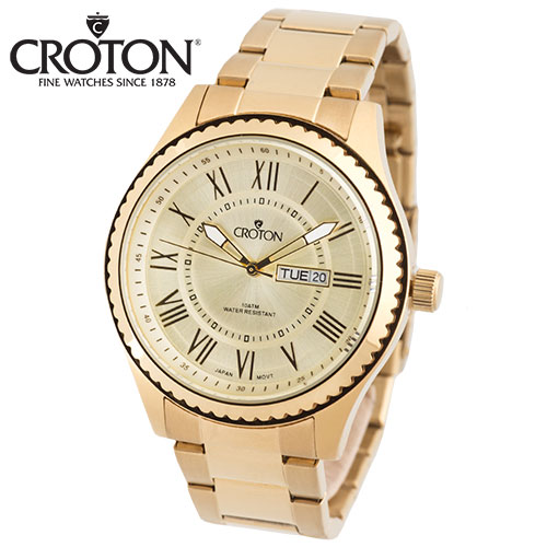 'Croton Gold-Tone Watch'
