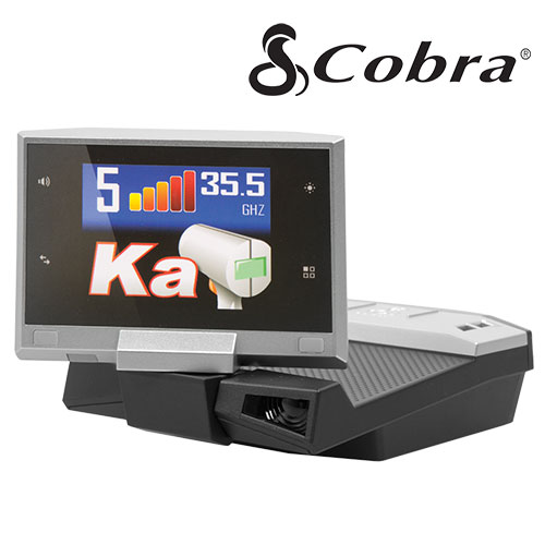 'Cobra Radar Detector with LCD Display and Voice Alert'