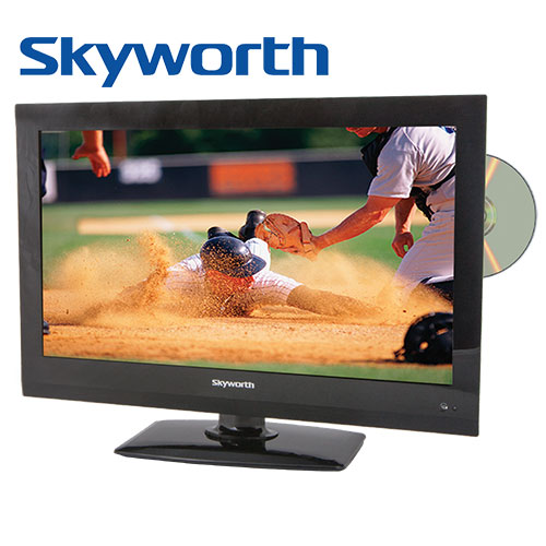 'Skyworth LED HDTV with On-Board DVD Player - 22 inch'