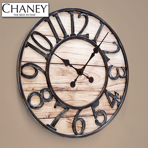 'Wood Finish Track Clock'