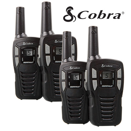 '2 Pair Cobra 16-Mile GMRS Radios'