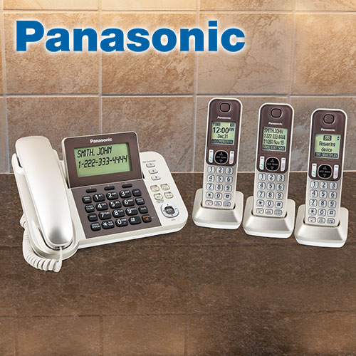 Panasonic Corded 3 Handset System