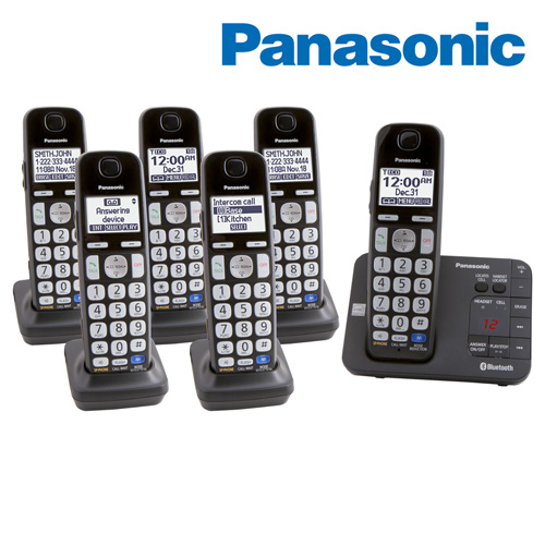 'Panasonic 6-Handset Phone System with Link-To-Cell for 2 Cell Phones'