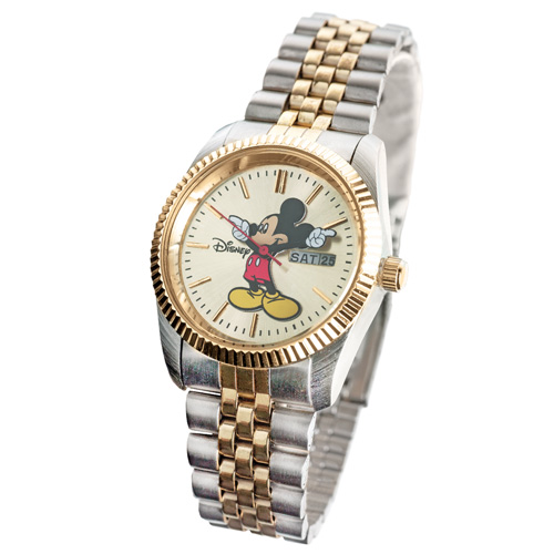 'Mickey Mouse 2-Tone Watch - Mens'