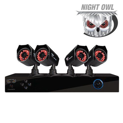 Night Owl 8-Channel/4-Camera DVR Security System