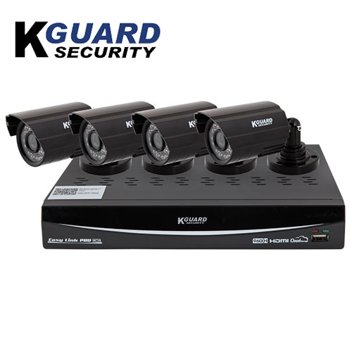 'K-Guard 4 Channel/4 Camera DVR Security System'