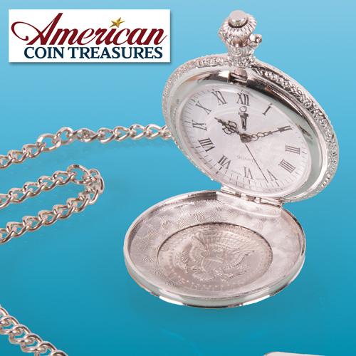 'JFK Half Dollar Pocket Watch'