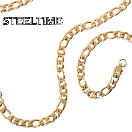 'Mens Figaro Necklace/Bracelet Set'