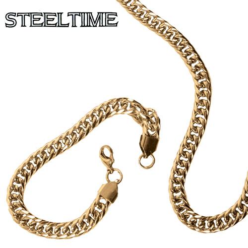 'Mens Cuban Necklace/Bracelet Set'