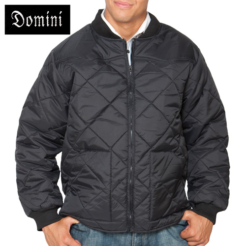 'Quilted Zip Jacket - Black'