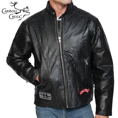 'Lambskin Leather Motorcycle Jacket'