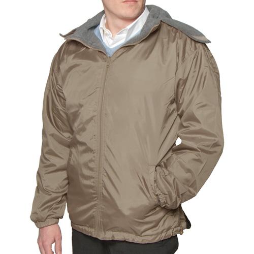 'Fleece Reversible Jacket - Taupe'