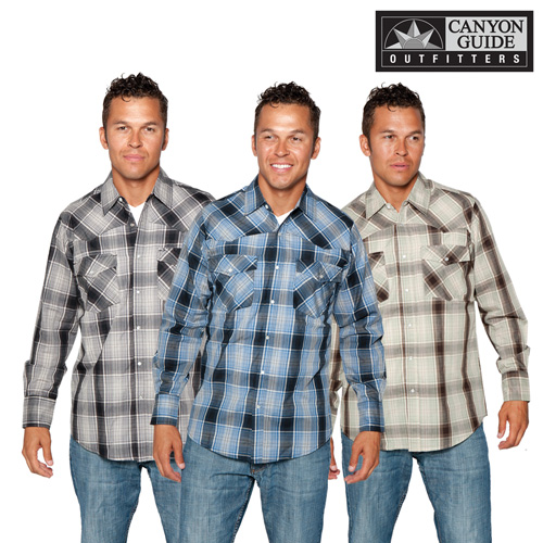 'Western Pearl Snap Shirts - 3 Pack'