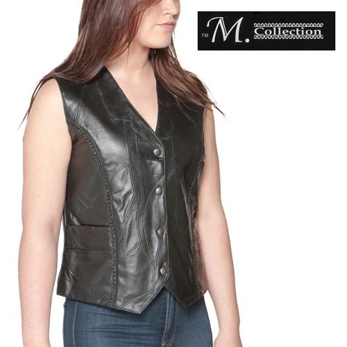 'Ladies Genuine Leather Vest'