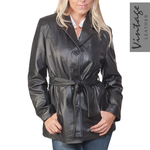 'Womens Leather Coat'