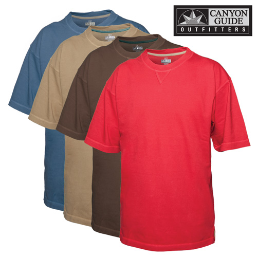 'Short Sleeve Crew Neck Shirts - 4 Pack'