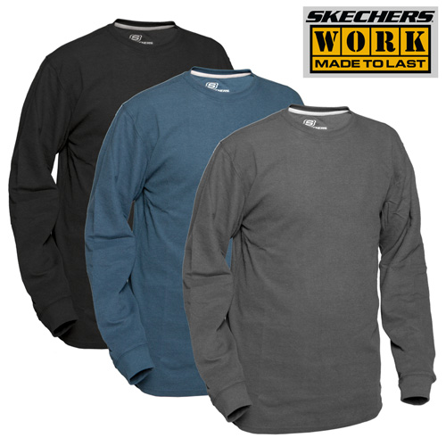 Skechers Crew Neck Work Shirts - 3 Pack