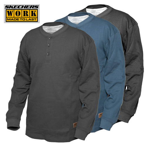 'Skechers Henley Work Shirts - 3 Pack'