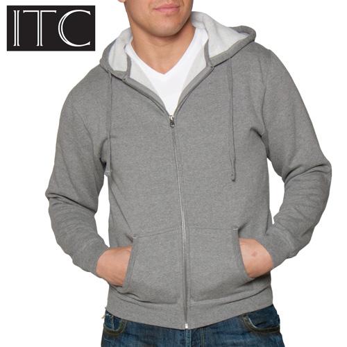 'Sherpa Lined Hooded Sweatshirt - Gunmetal'