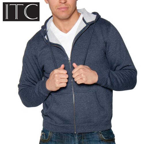 'Sherpa Lined Hooded Sweatshirt - Navy'