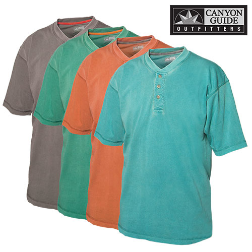 Short Sleeve Henley Shirts - 4 Pack