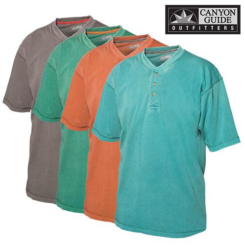 Short Sleeve Henley Shirts - 4 Pack