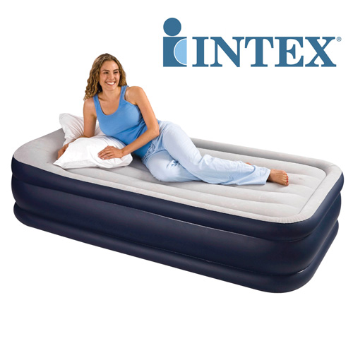 'Intex 19 inch Raised Air Bed - Twin'
