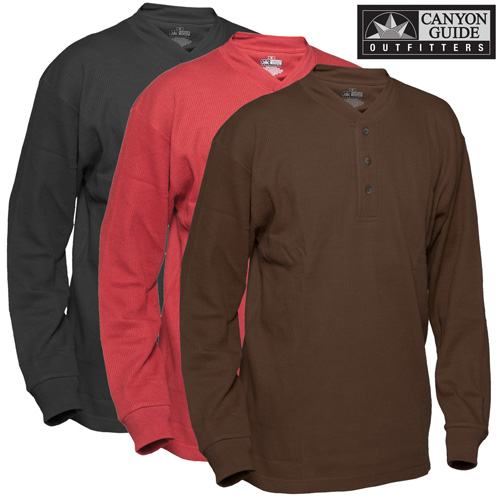 '3-pack Thermal Henleys'