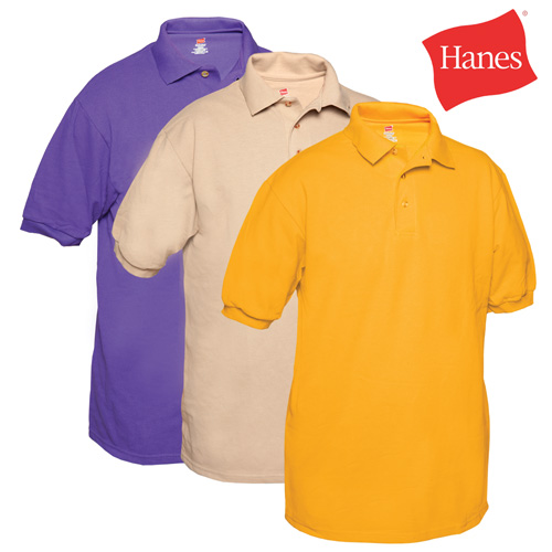 'Hanes Polo Shirts - 3 Pack'