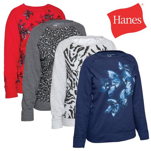 'Hanes Womens Print Sweatshirts - 4 Pack'